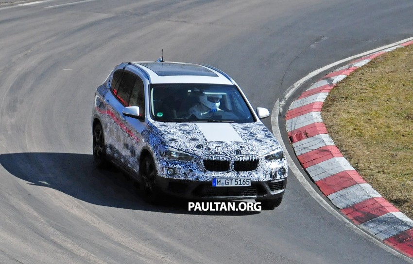 SPIED: F48 BMW X1 – FWD SUV loses some camo Image #319315