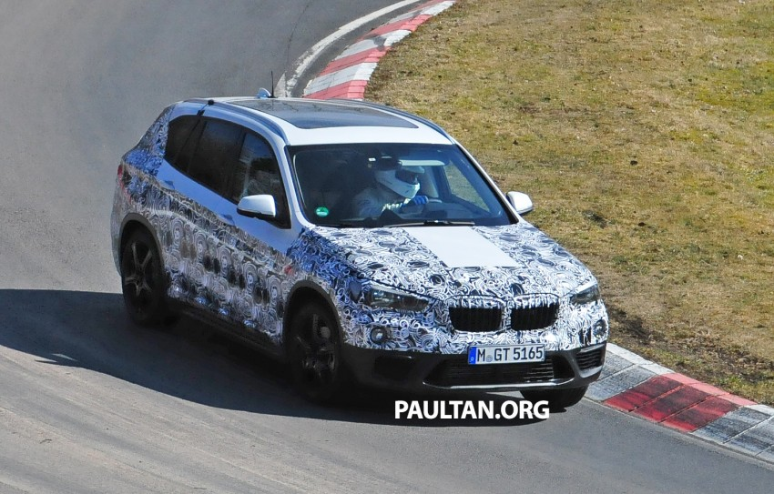 SPIED: F48 BMW X1 – FWD SUV loses some camo Image #319314