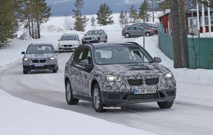 SPIED: F48 BMW X1 – FWD SUV loses some camo Image #319320