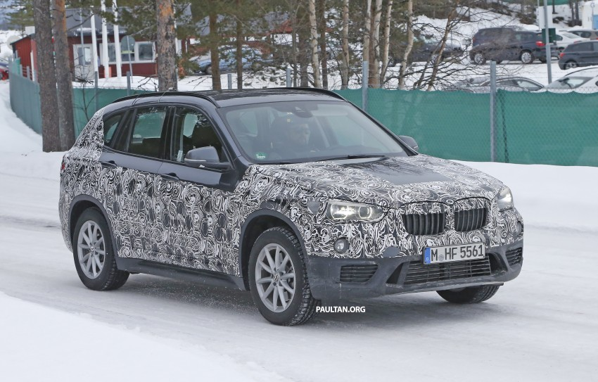 SPIED: F48 BMW X1 – FWD SUV loses some camo Image #319324