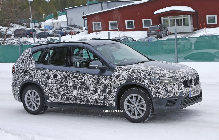 SPIED: F48 BMW X1 – FWD SUV loses some camo Image #319323