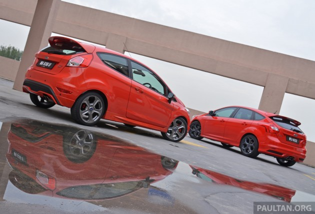 GALLERY: Ford Fiesta ST and Focus ST compared