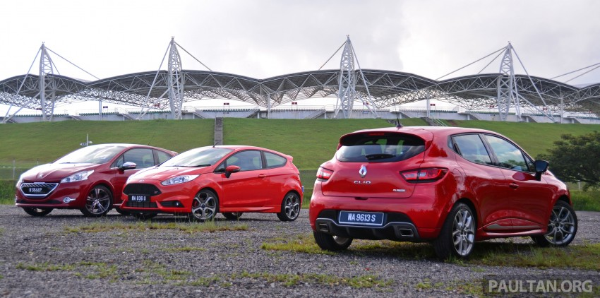 Ford Fiesta ST vs Peugeot 208 GTi vs Renault Clio RS – which one is the best hot hatch on sale in Malaysia? Image #297764