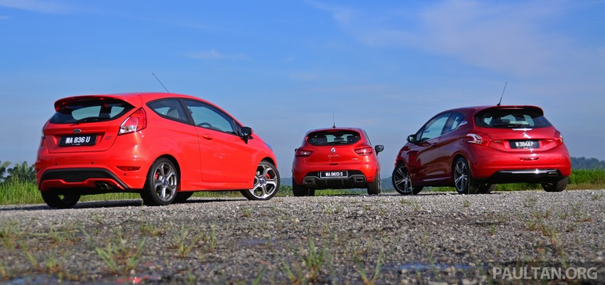 Ford Fiesta ST vs Peugeot 208 GTi vs Renault Clio RS – which one is the best hot hatch on sale in Malaysia? Image #297765