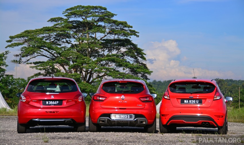 Ford Fiesta ST vs Peugeot 208 GTi vs Renault Clio RS – which one is the best hot hatch on sale in Malaysia? Image #297767