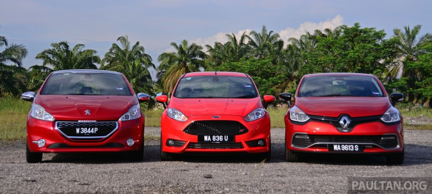 Ford Fiesta ST vs Peugeot 208 GTi vs Renault Clio RS – which one is the best hot hatch on sale in Malaysia? Image #297768
