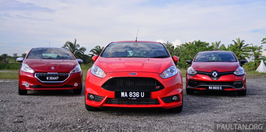 Ford Fiesta ST vs Peugeot 208 GTi vs Renault Clio RS – which one is the best hot hatch on sale in Malaysia? Image #297769