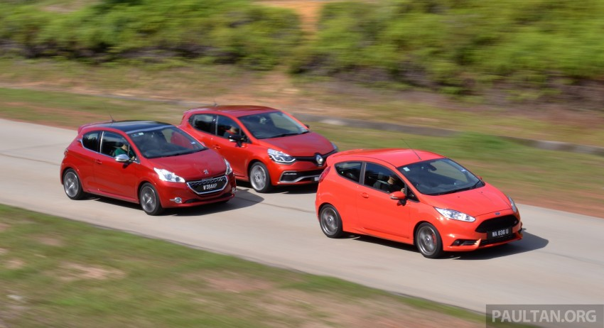 Ford Fiesta ST vs Peugeot 208 GTi vs Renault Clio RS – which one is the best hot hatch on sale in Malaysia? Image #297783