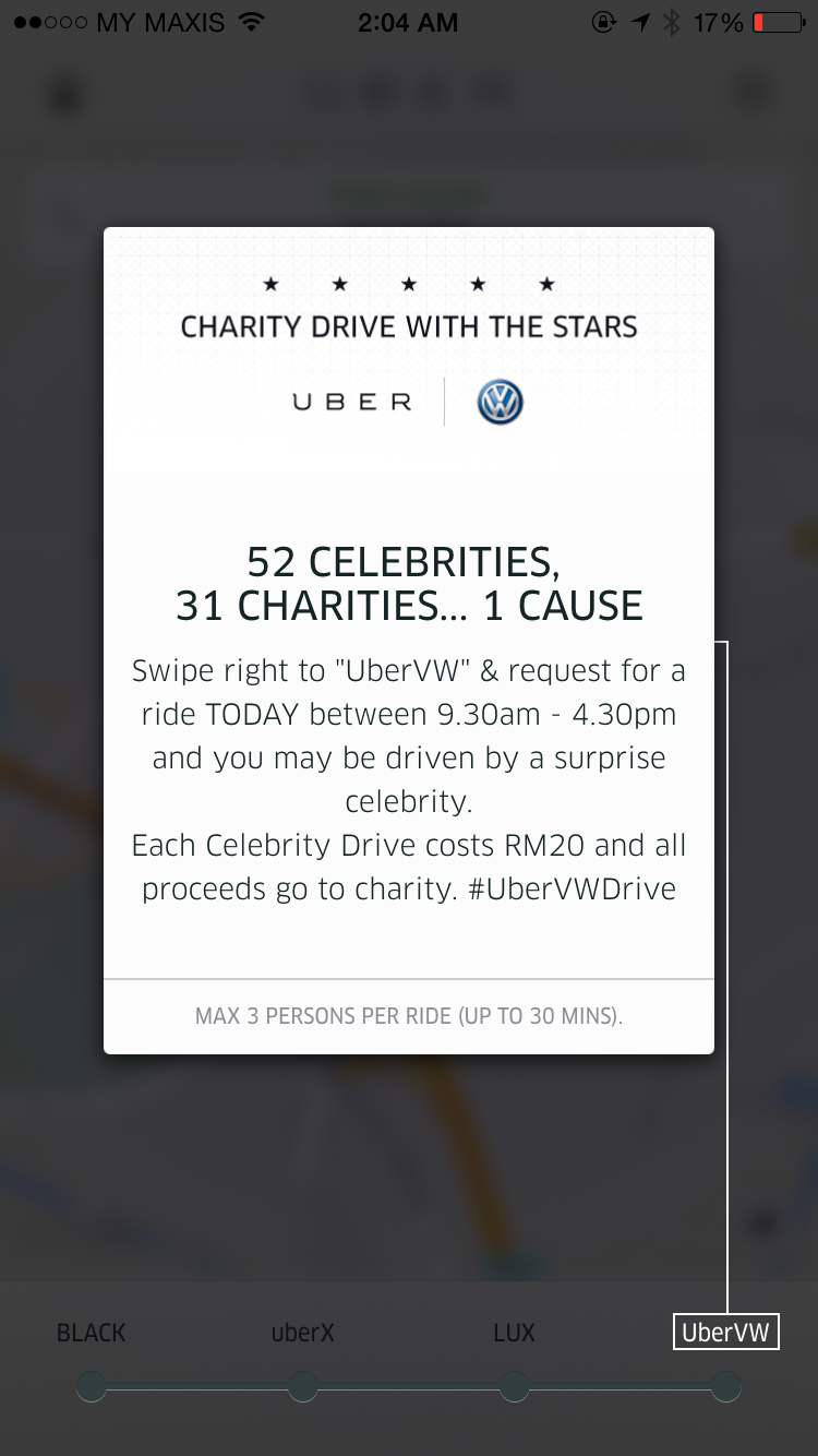 Uber and Volkswagen get together for charity – local celebs to be Uber drivers for today in VW vehicles Image #295536