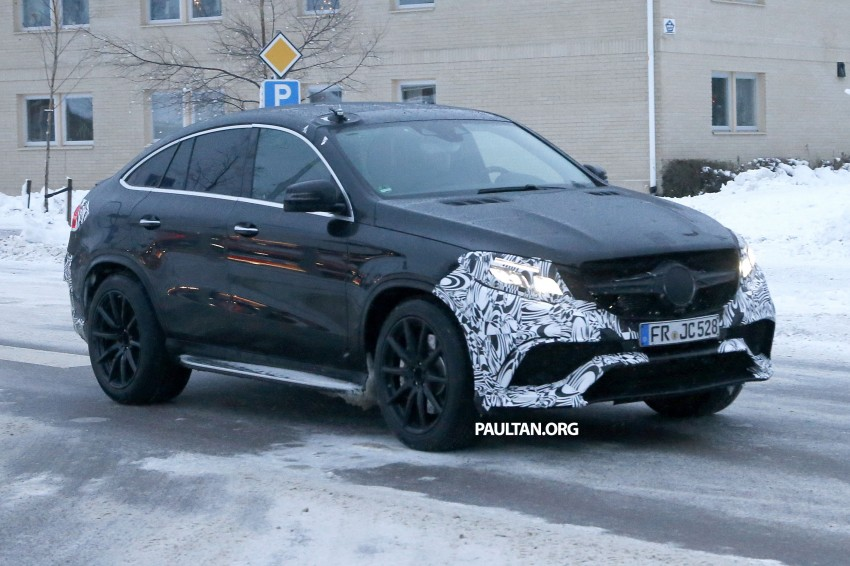 SPYSHOTS: Mercedes-Benz GLE Coupe winter-testing Image #294208
