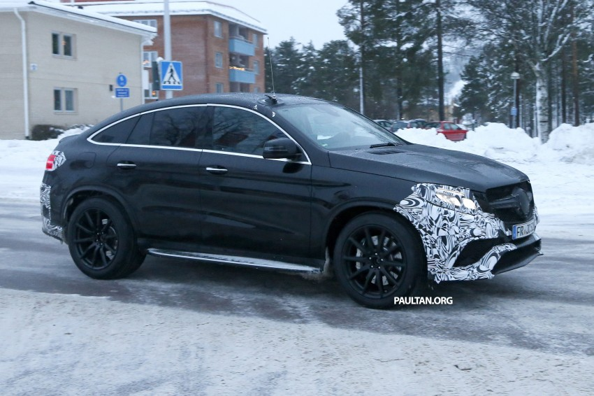 SPYSHOTS: Mercedes-Benz GLE Coupe winter-testing Image #294210