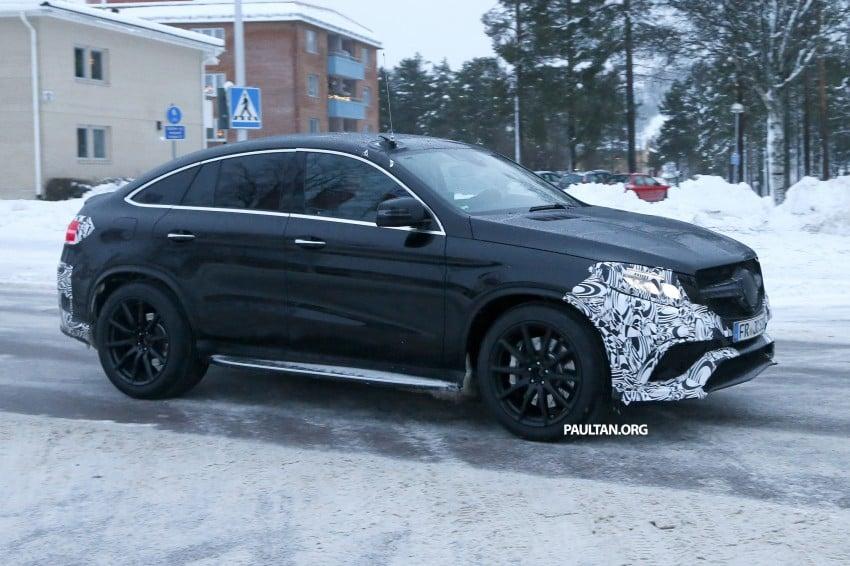 SPYSHOTS: Mercedes-Benz GLE Coupe winter-testing Image #294210