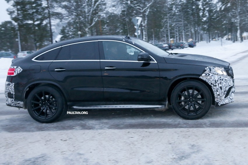SPYSHOTS: Mercedes-Benz GLE Coupe winter-testing Image #294209