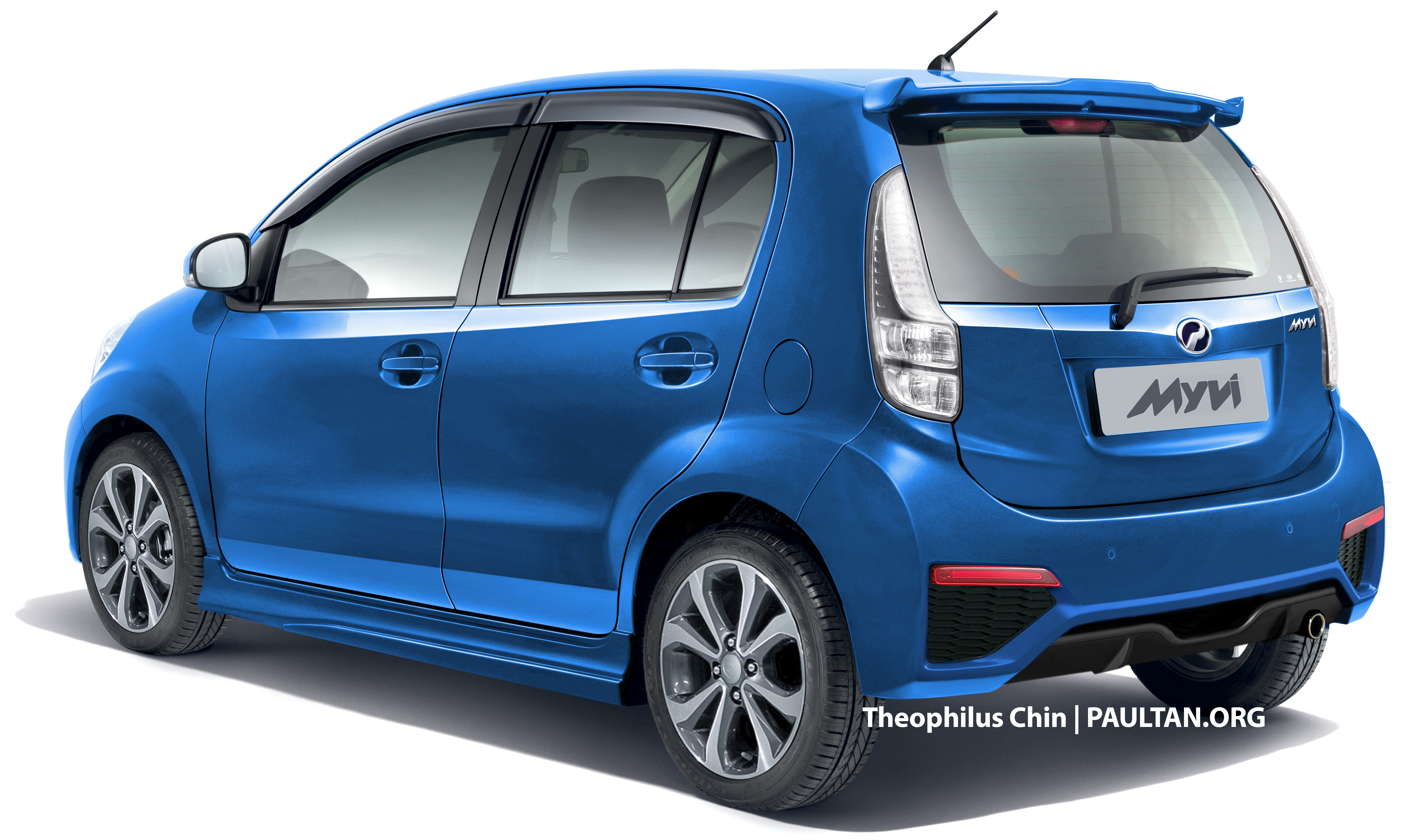 Perodua Myvi facelift rendered with new rear view