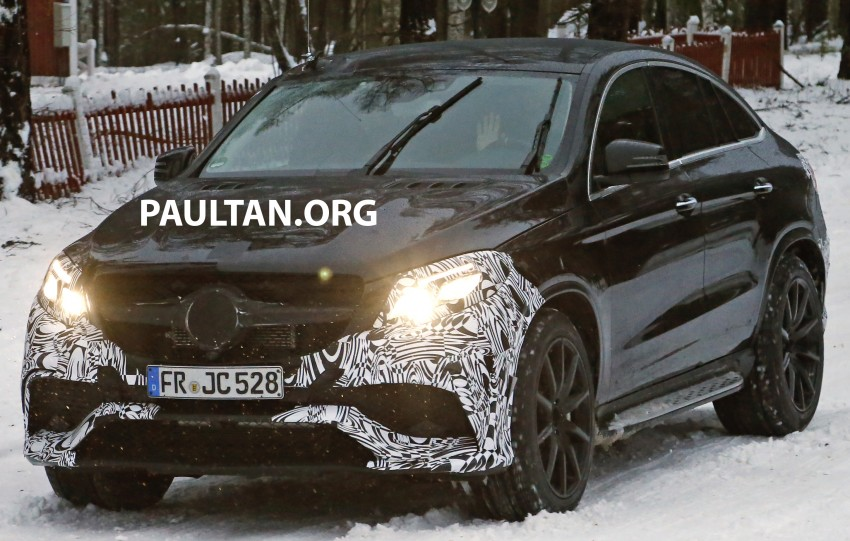 SPYSHOTS: Mercedes-Benz GLE Coupe winter-testing Image #293764