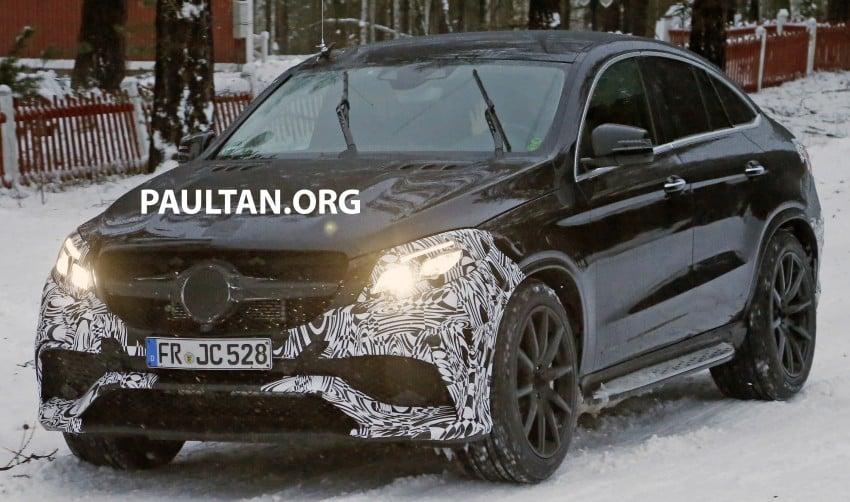 SPYSHOTS: Mercedes-Benz GLE Coupe winter-testing Image #293765