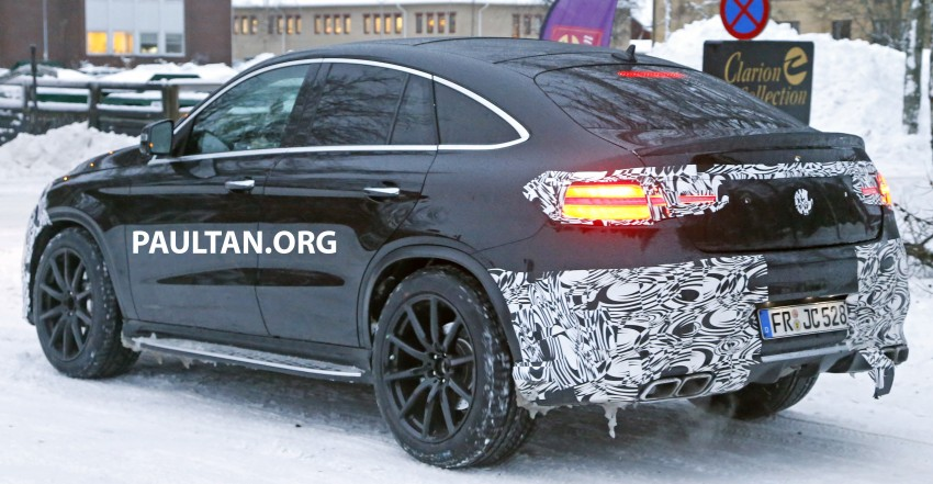 SPYSHOTS: Mercedes-Benz GLE Coupe winter-testing Image #293770