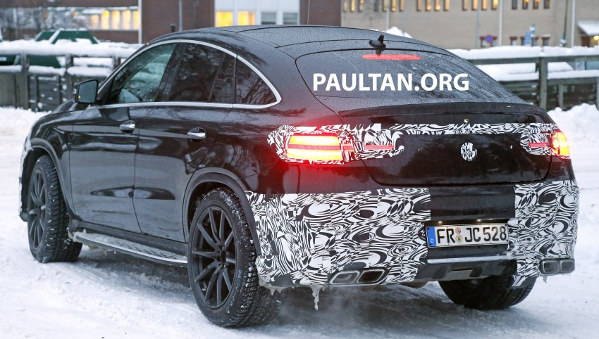 SPYSHOTS: Mercedes-Benz GLE Coupe winter-testing Image #293771