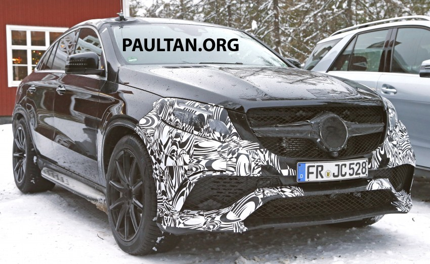 SPYSHOTS: Mercedes-Benz GLE Coupe winter-testing Image #293772
