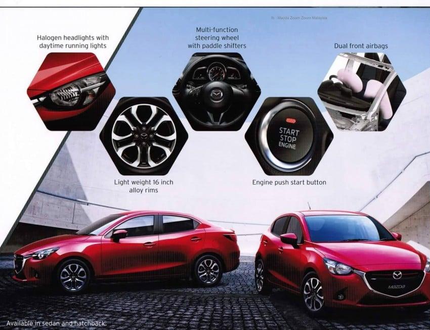 2015 Mazda 2 brochure leaked – full specs revealed Image #304165