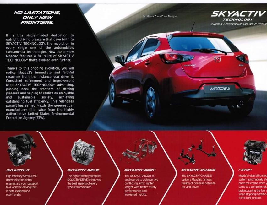 2015 Mazda 2 brochure leaked – full specs revealed Image #304167