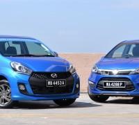 2015_Perodua_Myvi_facelift_vs_Proton_Iriz_ 001