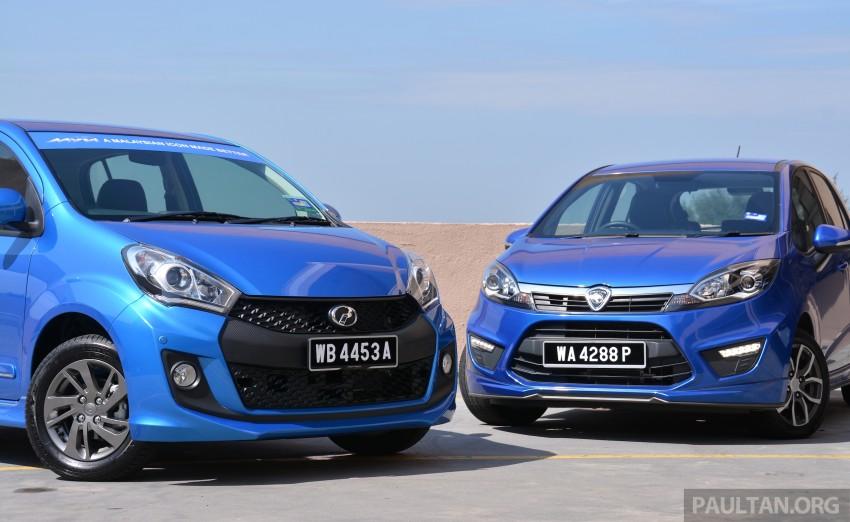 GALLERY: 2015 Perodua Myvi facelift vs Proton Iriz Image #304696