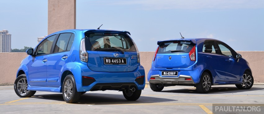 GALLERY: 2015 Perodua Myvi facelift vs Proton Iriz Image #304697