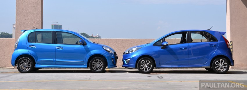 GALLERY: 2015 Perodua Myvi facelift vs Proton Iriz Image #304701
