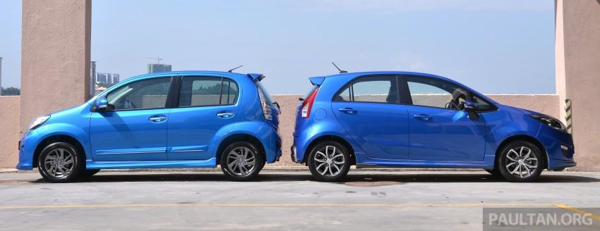 GALLERY: 2015 Perodua Myvi facelift vs Proton Iriz Image #304702