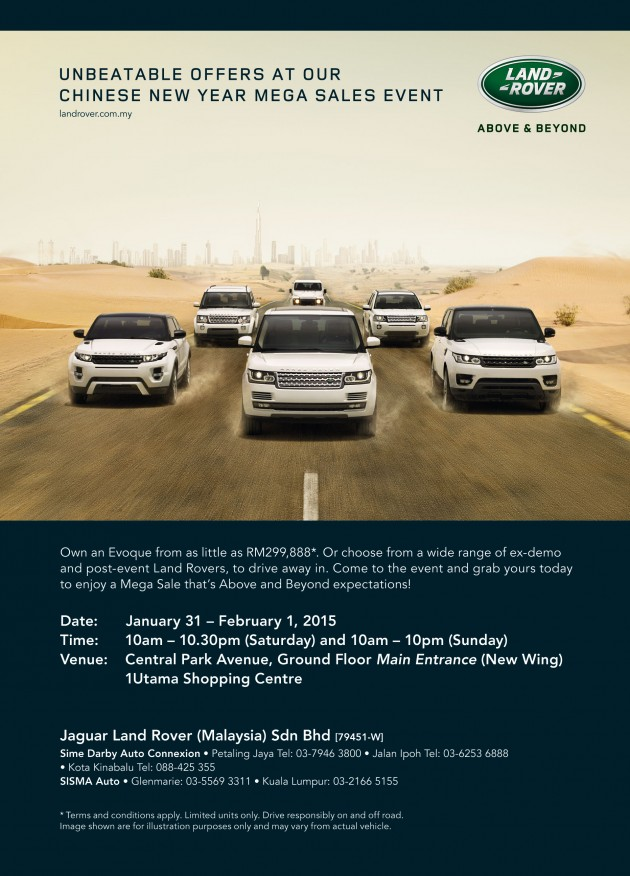 Central Auto Sales >> AD: Jaguar Land Rover Chinese New Year Mega Sales Event