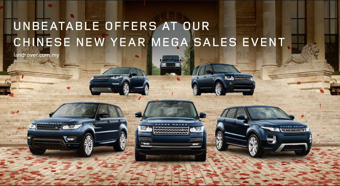 Ad Jaguar Land Rover Chinese New Year Mega Sales Event