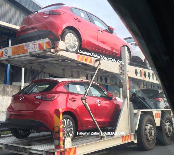 SPIED: 2015 Mazda 2 hatchback spotted in Malaysia Image #305305