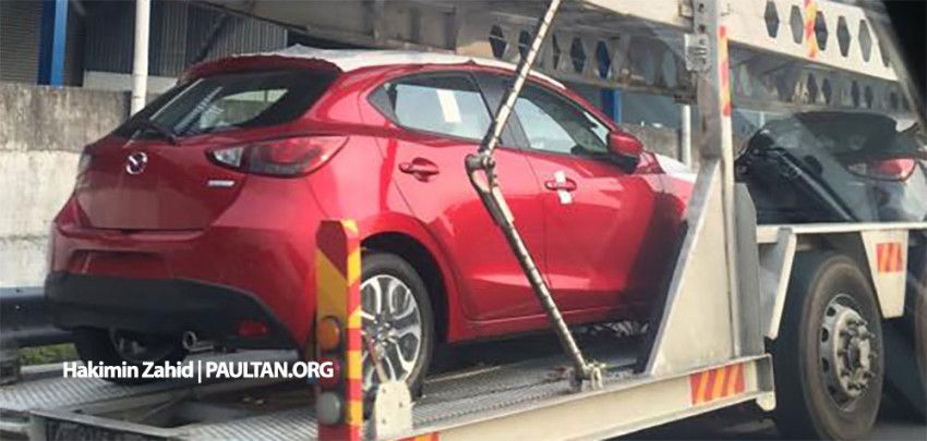 SPIED: 2015 Mazda 2 hatchback spotted in Malaysia Image #305306