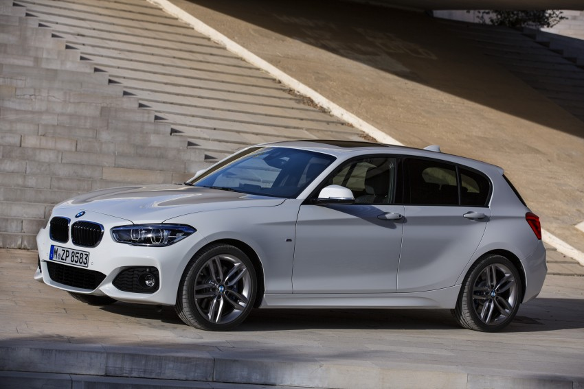 Bmw M Series >> F20 BMW 1 Series facelift unveiled – new face and rear end, 116i and 116d get 1.5 litre three ...