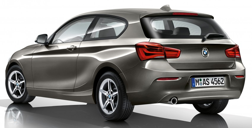 F20 Bmw 1 Series Facelift Unveiled New Face And Rear End 116i And 116d Get 1 5 Litre Three