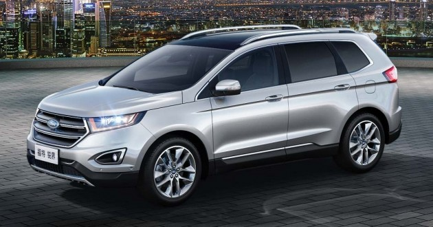 Ford Edge China Gets Unique Seven Seater Version