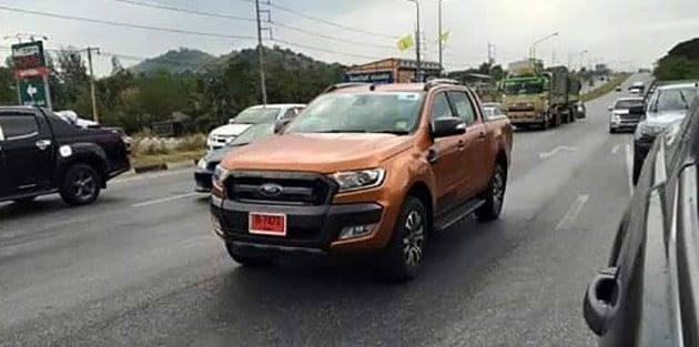 ford-ranger-wildtrak-facelift-spotted-thailand-2