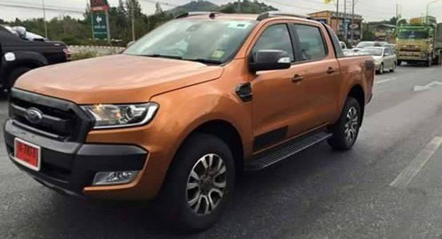 ford-ranger-wildtrak-facelift-spotted-thailand