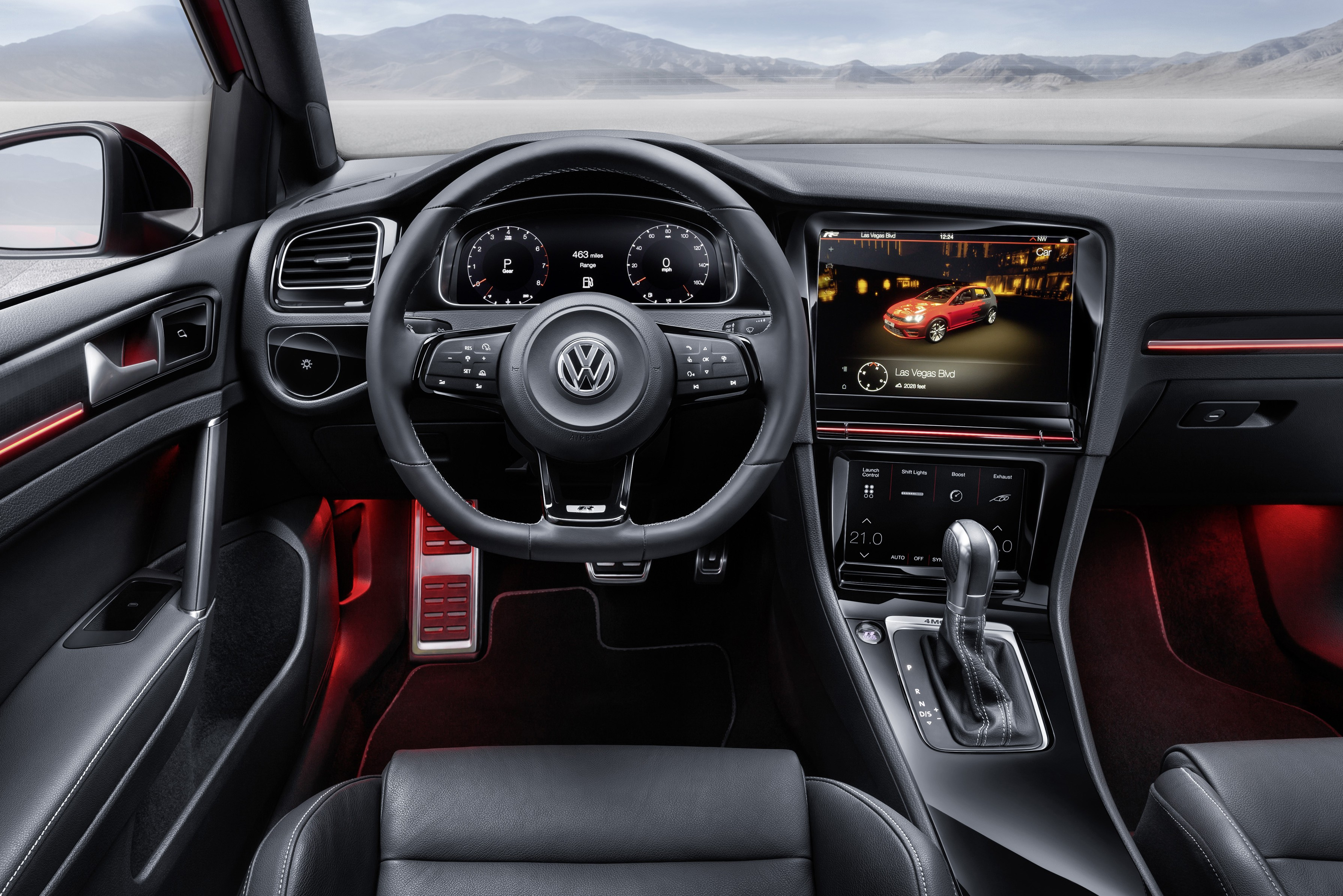 volkswagen golf r touch a gesture operated future paul. Black Bedroom Furniture Sets. Home Design Ideas