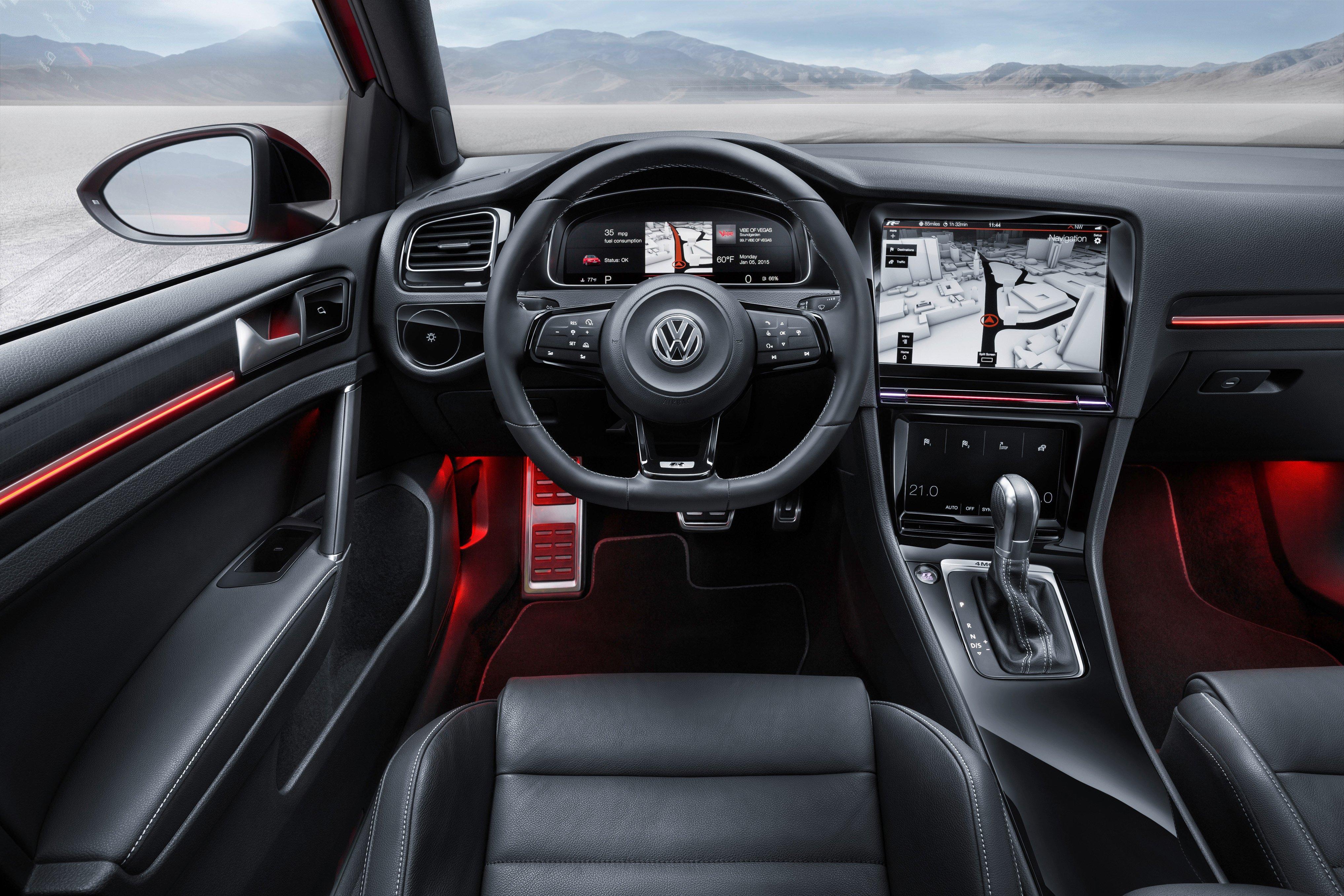 2016 VW Golf Mk7 facelift to feature gesture control   {Auto cockpit vw 8}