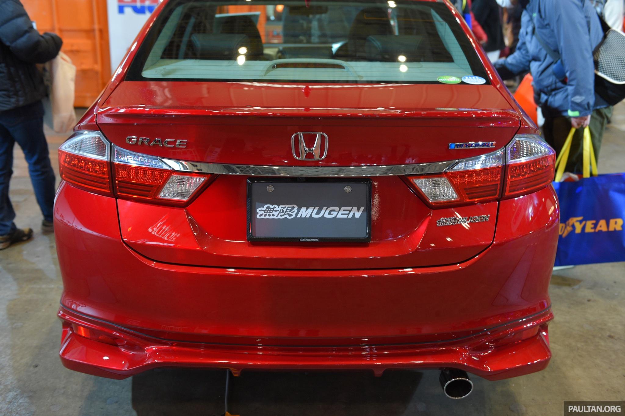 Mugen shows off pimped up Honda Grace (City Hybrid) at ...