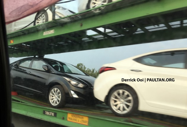 Hyundai Elantra facelift spotted in Malaysia