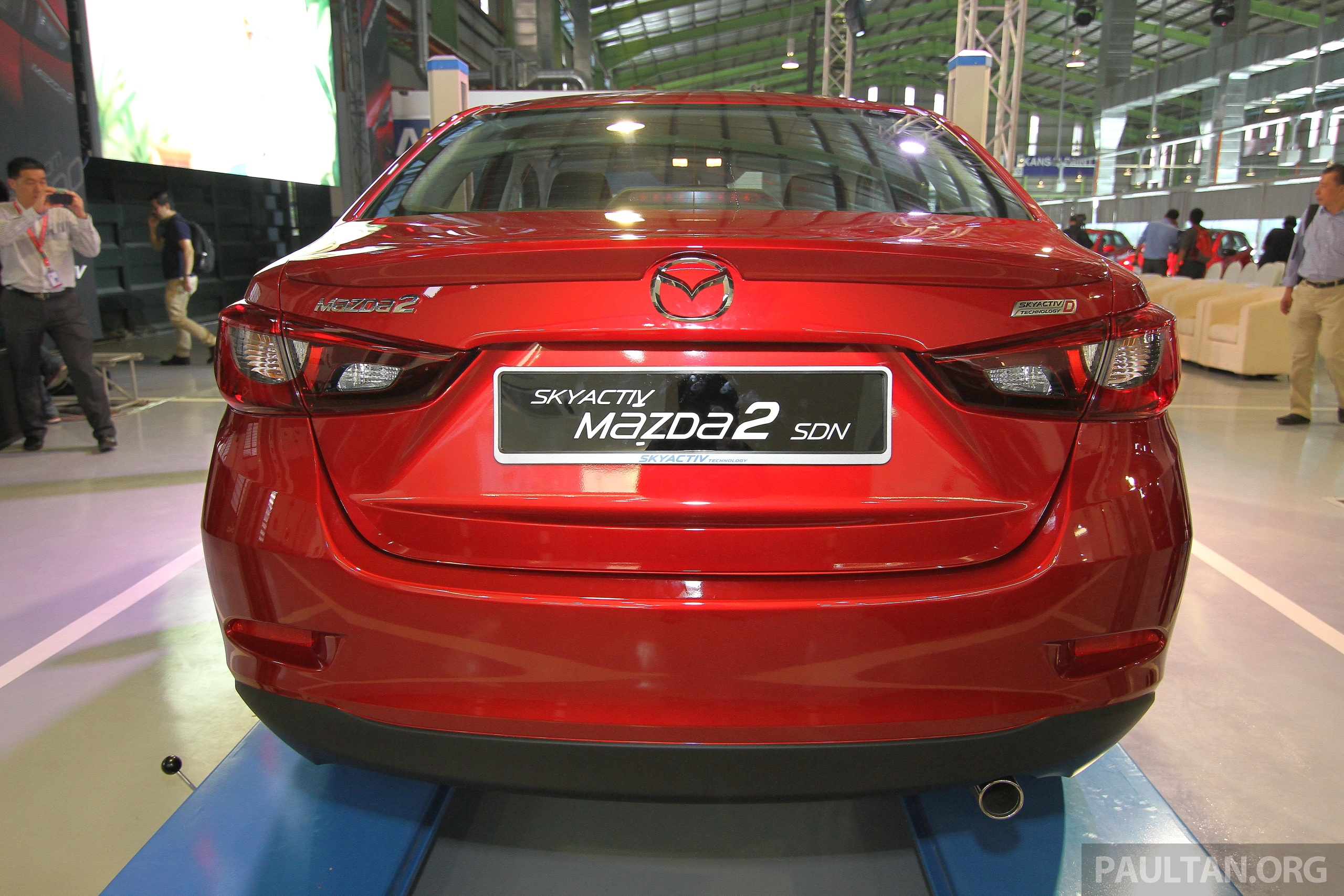 mazda 2 sedan skyactiv d diesel displayed at launch. Black Bedroom Furniture Sets. Home Design Ideas