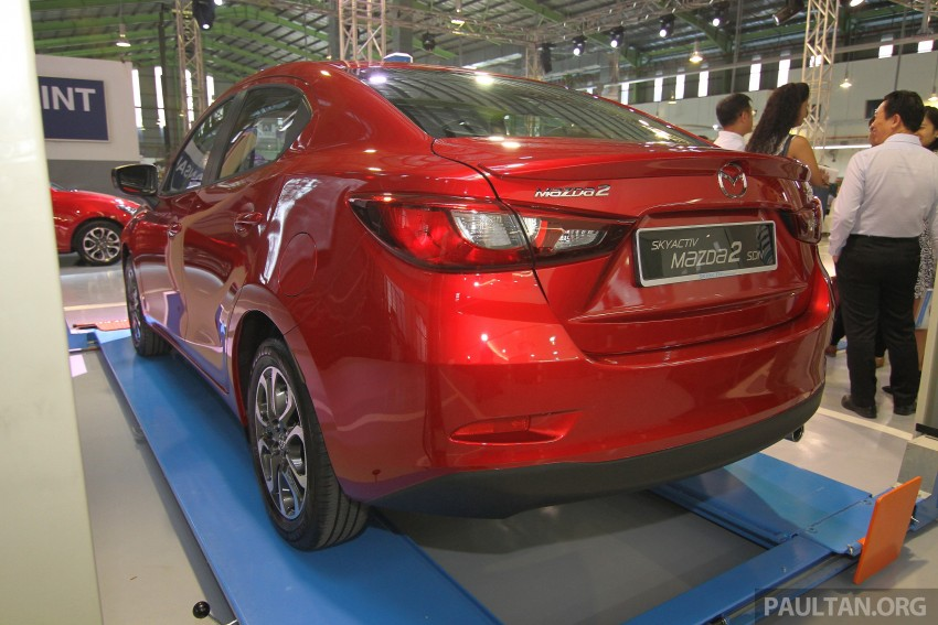 Mazda 2 Sedan SkyActiv-D diesel displayed at launch Image #306181