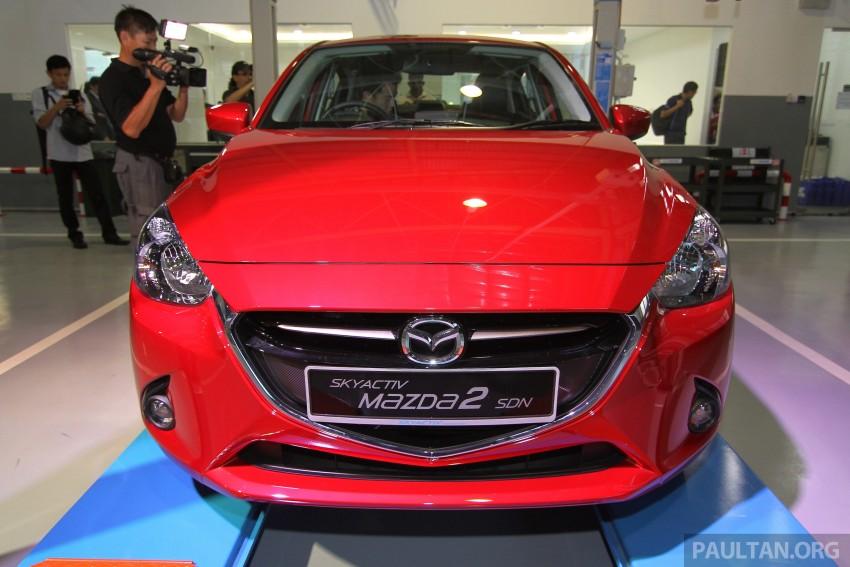 Mazda 2 Sedan SkyActiv-D diesel displayed at launch Image #306183