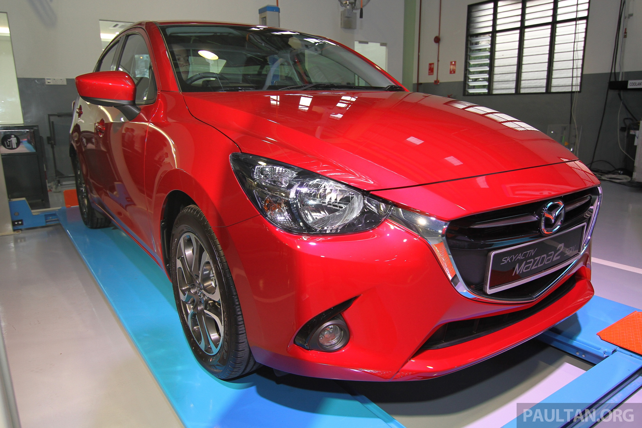 mazda 2 sedan skyactiv d diesel displayed at launch image. Black Bedroom Furniture Sets. Home Design Ideas