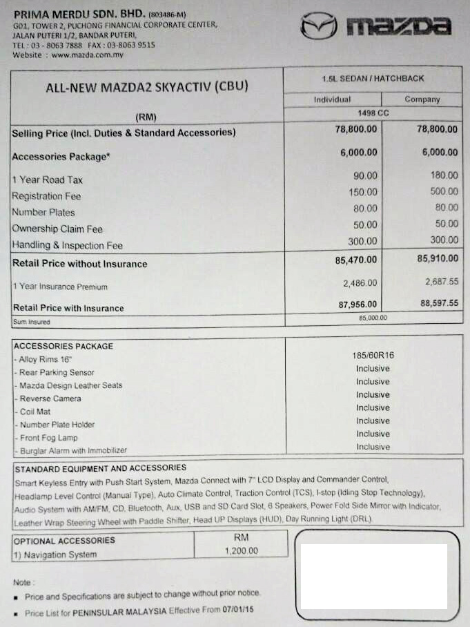 2015 Mazda 2  RM88000 BEST VALUE BSEGMENT car