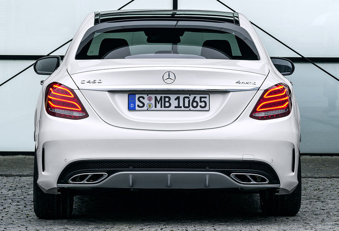 Mercedes 4 Matic >> Mercedes-Benz C 450 AMG 4Matic debuts – sportier chassis, 3.0 litre twin-turbo V6 with 362 hp ...