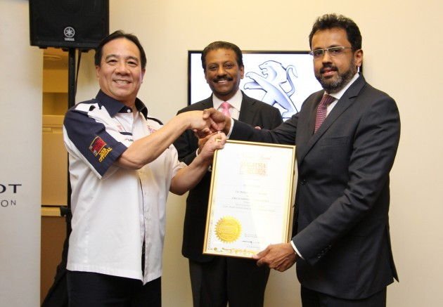 Peugeot Lounge enters Malaysia Book of Records